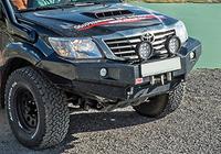 Передний бампер без верхней дуги РИФ Toyota Hilux