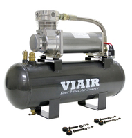 Компрессор VIAIR, ресивер 2.0Gal, набор управления давлением (20005)