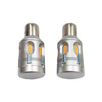 Автомобильная светодиодная лампа головного освещения T20 (PY21W) Canbus Yellow 2 шт (LJT24P)
