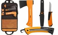 Набор туриста Fiskars Camping set (топор + нож + пила + сумка) (1025439)