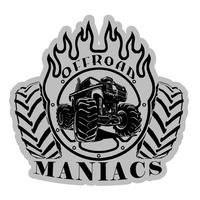 "Наклейка-логотип на машину ""offroadmaniacs"" 20 см"