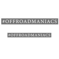 """Наклейка на машину """"#offroadmaniacs"""""""