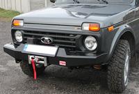 Передний силовой бампер РИФ  для Lada НИВА без защитной дуги