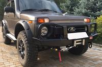Передний силовой бампер РИФ Lada НИВА с защитной дугой