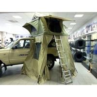 Палатка туристическая быстрораскладывающаяся СТОКРАТ для установки на крышу автомобиля с дополнительным тамбуром ( STO TN-RT0001)