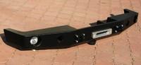 Бампер передний без кенгурятника для Nissan Patrol Y60 (с дополнительными отверстиями для оптики) (8573)