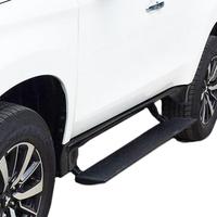 Выдвижные электрические пороги Mitsubishi Pajero Sport 2016+, с логотипом (ERB-MITSU-PAJSP-16-logo)