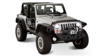 Расширители арок Bushwacker Flat Style для Jeep Wrangler JK с 2005 года