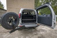 Задний бампер РИФ с калиткой Toyota Land Cruiser Prado 150