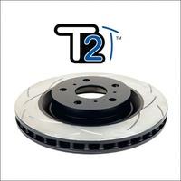 Усиленный Вентилируемый Тормозной Диск T2 SLOT NISSAN Patrol Y62 передний (DBA2340S)