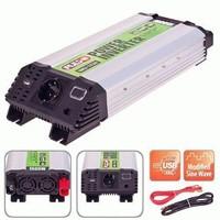 Преобразователь напряжения PULSO/IMU-1520/12V-220V/1500W/USB-5VDC2.0A/мод.волна/клеммы (IMU-1520)