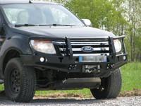 Передний бампер с кенгурятником для Ford Ranger T6 (2011-2015) (36196)
