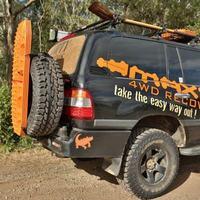 Комплект крепежных ремней MAXTRAX для сендтреков к запасному колесу (MTXRWH)