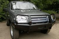 Передний силовой бампер РИФ Chevrolet НИВА с защитной дугой
