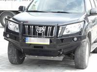 Передний бампер для Toyota Land Cruiser J150 (2009-2013) с кенгурятником (34506)