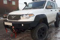 Передний силовой бампер РИФ УАЗ Патриот без защитной дуги
