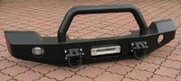 Передний силовой бампер для Wrangler JK с монтажной плитой под лебедку без кенгурятника (2007-2012) (9732)